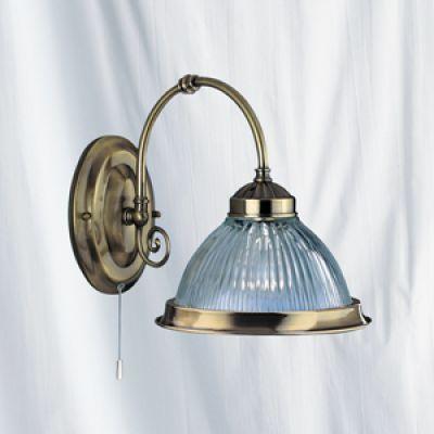 Wall light geripptes Glass Brass Pull switch Wall Lamp Light Nightlight eBay