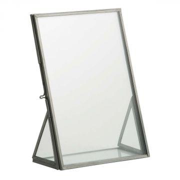 bilderrahmen zink metall glas vintage von ib laursen ebay. Black Bedroom Furniture Sets. Home Design Ideas