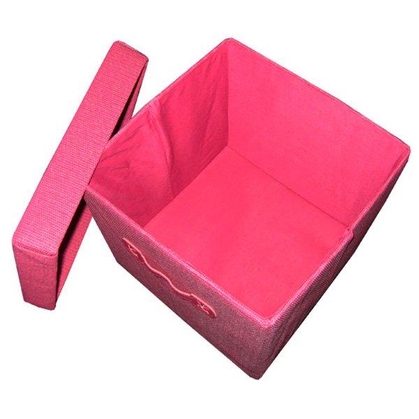 22 5 liter aufbewahrungsbox deckel rosa faltbox spielkiste. Black Bedroom Furniture Sets. Home Design Ideas