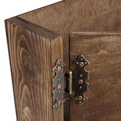 dunkler aktenordner din a4 ordner holz holzordner ablage pr sentationsordner ebay. Black Bedroom Furniture Sets. Home Design Ideas