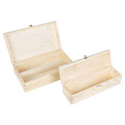 weinflaschen geschenkbox mit deckel und schloss wein weinkiste holz natur hell ebay. Black Bedroom Furniture Sets. Home Design Ideas