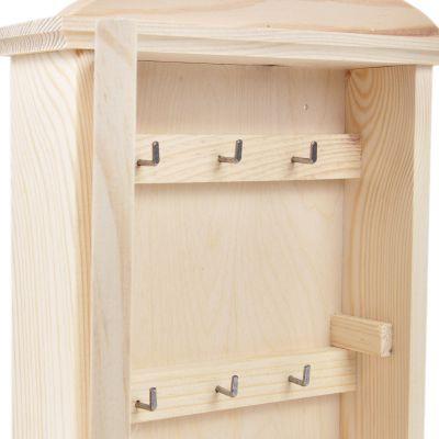 Schlüsselkasten natur helles Holz Schlüsselbrett Tür ...