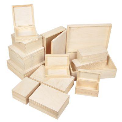 holzkiste deckel aufbewahrungskiste mehrzweckkisten holz 13 gr en allzweckbox ebay. Black Bedroom Furniture Sets. Home Design Ideas