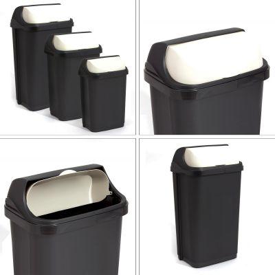 roll deckel m lleimer abfall eimer papaierkorb anthrazit inhalt 10 25 50 liter ebay. Black Bedroom Furniture Sets. Home Design Ideas