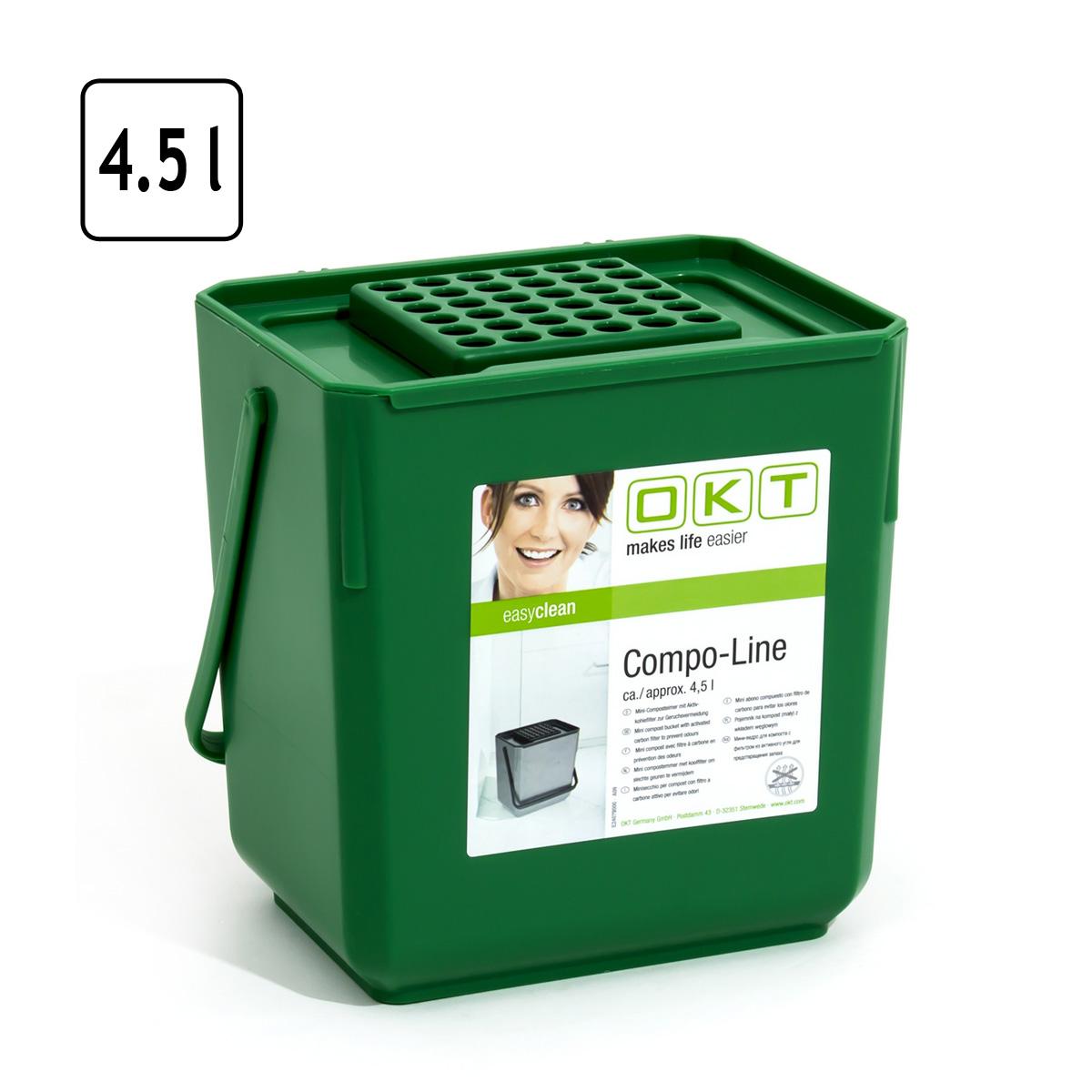 mini kompost eimer mit aktivkohlefilter 4 5 liter. Black Bedroom Furniture Sets. Home Design Ideas