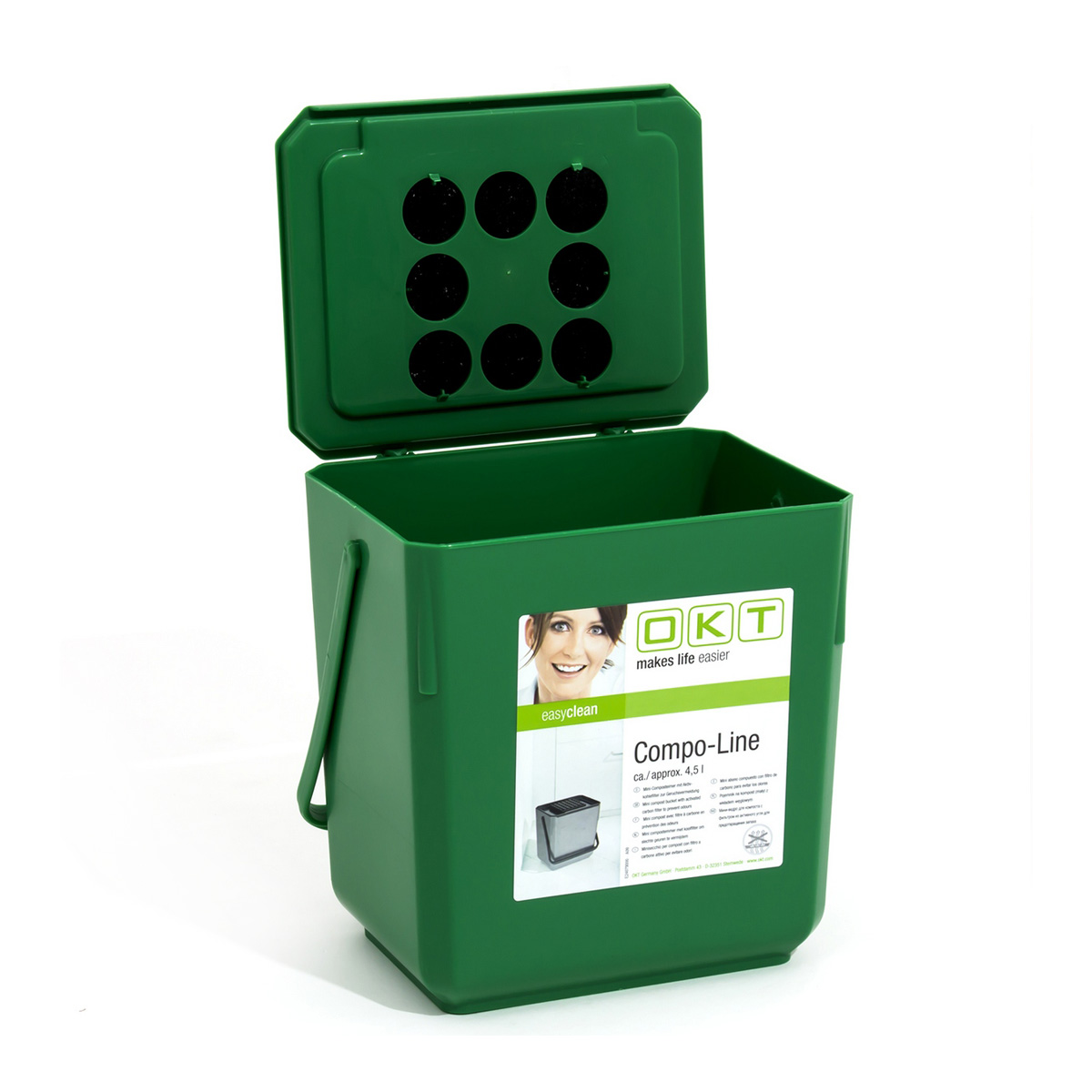mini kompost eimer mit aktivkohlefilter 4 5 liter komposter haushaltskomposter ebay. Black Bedroom Furniture Sets. Home Design Ideas