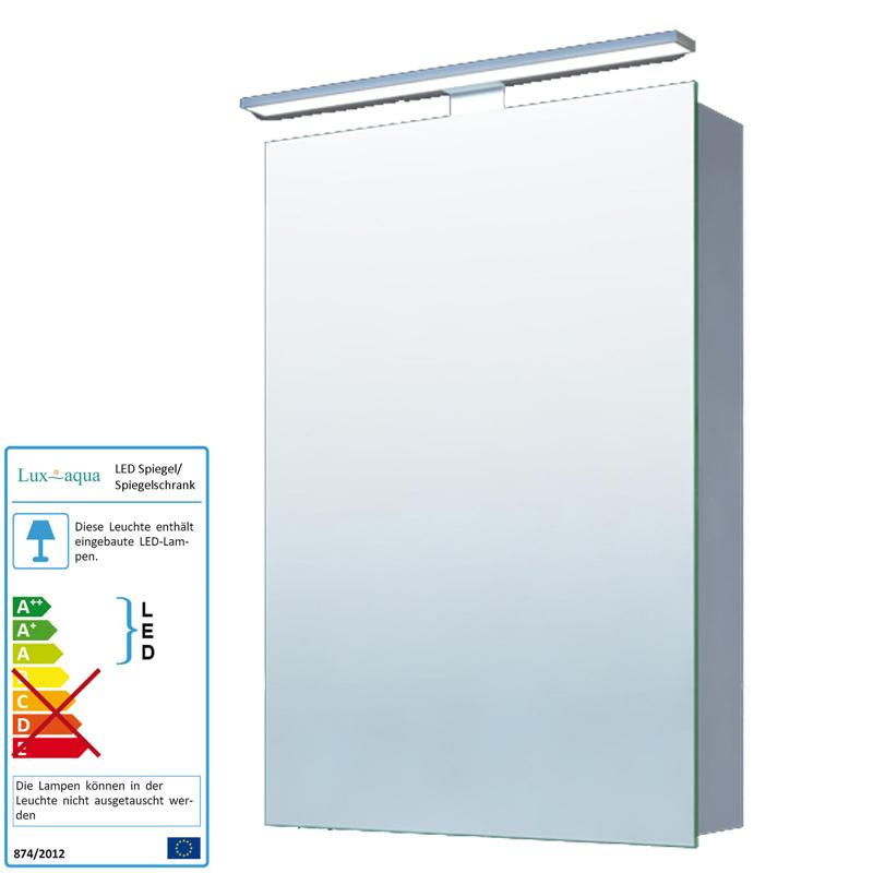 alu spiegelschrank beleuchtet badezimmer badspiegel mit. Black Bedroom Furniture Sets. Home Design Ideas