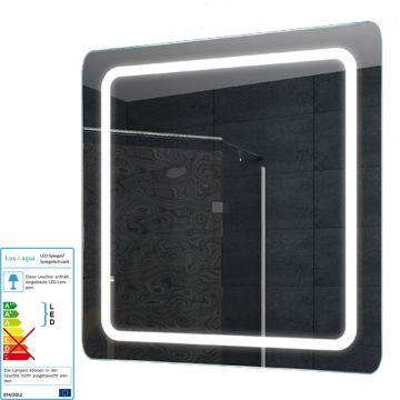 spiegel wand badezimmer badspiegel beleuchtet beleuchtung mit led licht 60x60 cm ebay. Black Bedroom Furniture Sets. Home Design Ideas