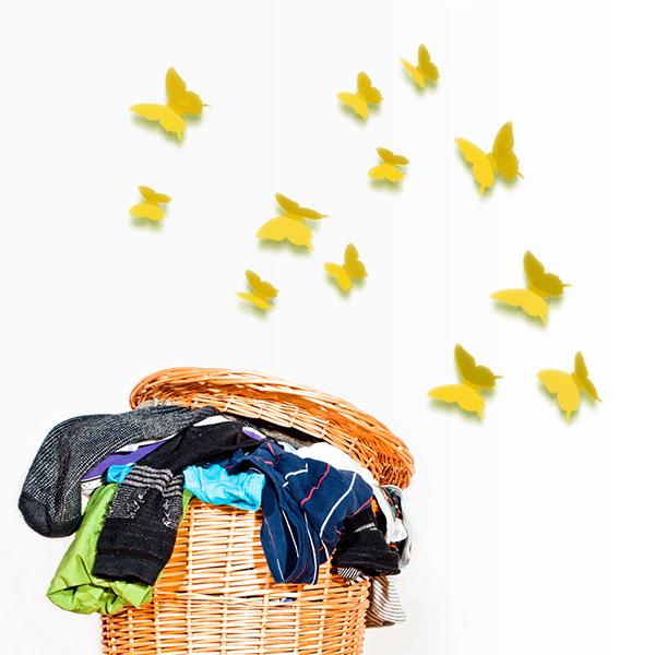 3d schmetterling set gelb wandsticker butterfly kinderzimmer deko 12 st ck ebay. Black Bedroom Furniture Sets. Home Design Ideas