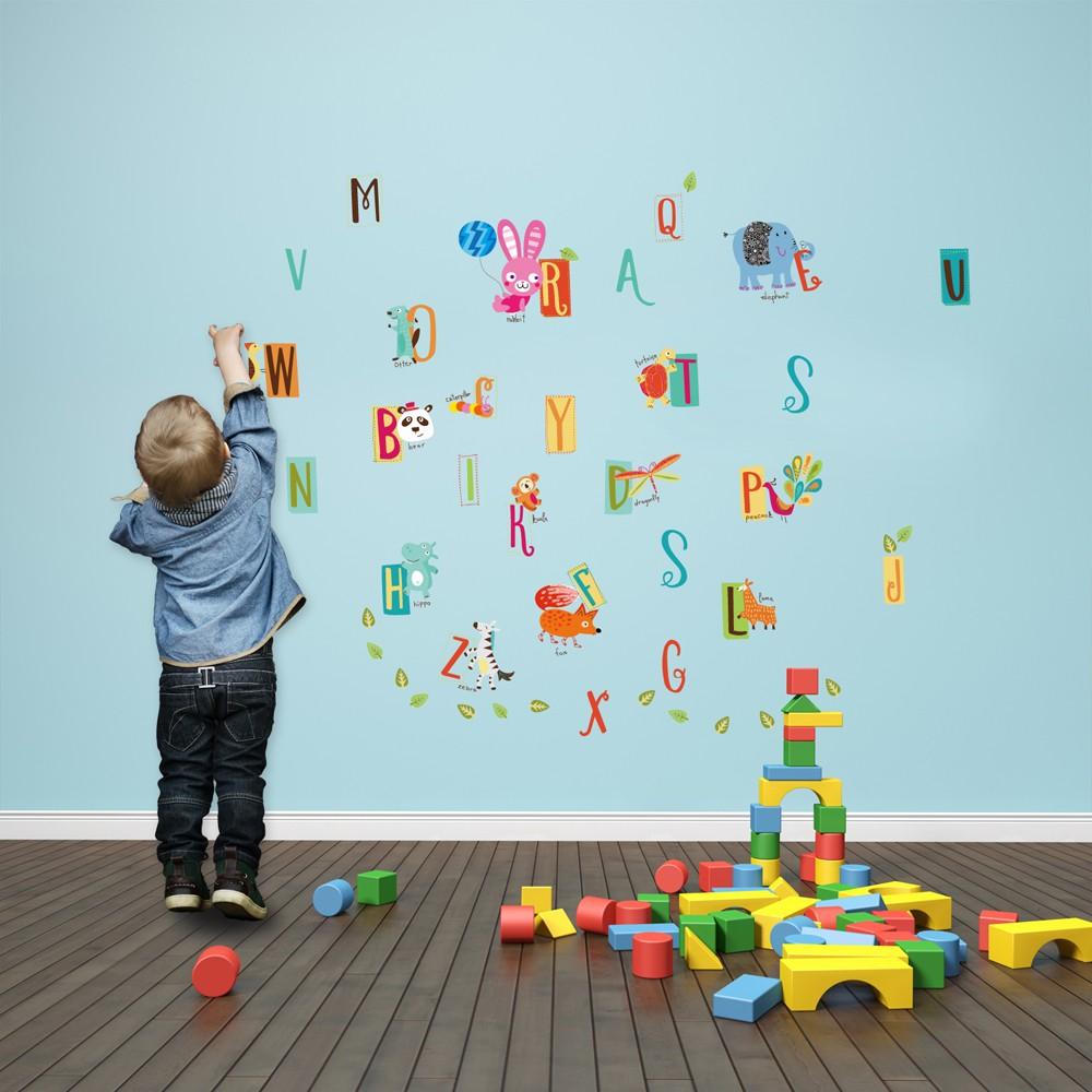 Farbiges alphabet franz sisches design wandsticker for Dekotipps kinderzimmer