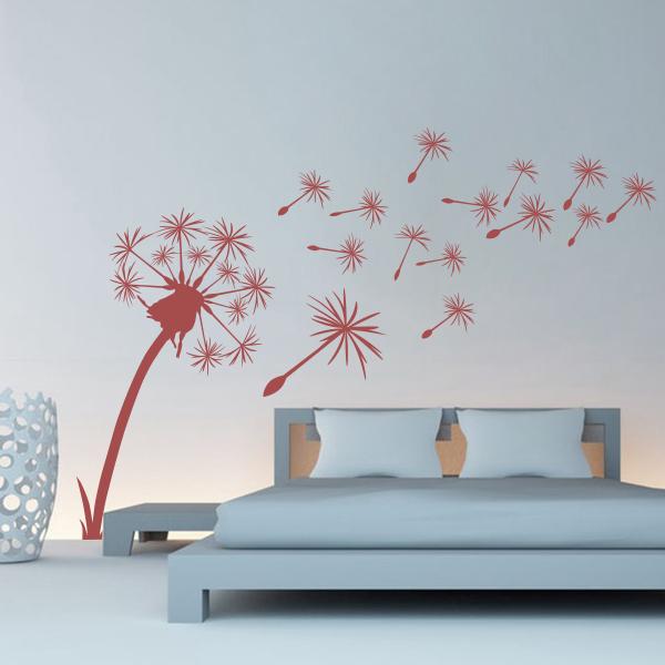pusteblume wandtattoo pflanzen wandsticker deko design wohnzimmer wohnung ebay. Black Bedroom Furniture Sets. Home Design Ideas