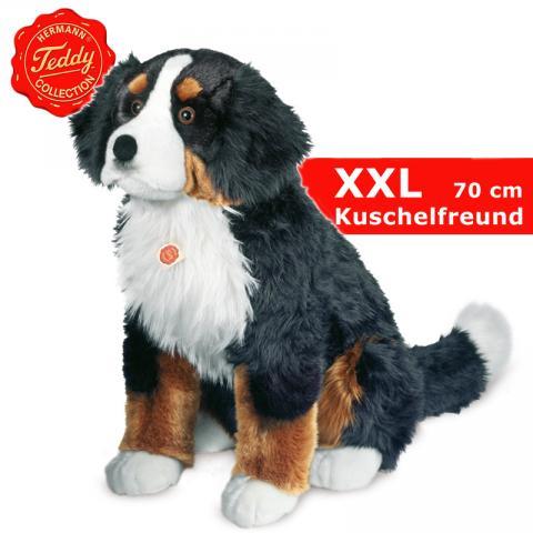 teddy hermann riesen berner sennenhund hund sitzend riesen pl schhund 70 cm ebay. Black Bedroom Furniture Sets. Home Design Ideas