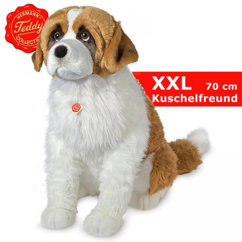 teddy hermann riesen bernhardiner hund sitzend riesen pl schhund 70 cm ebay. Black Bedroom Furniture Sets. Home Design Ideas