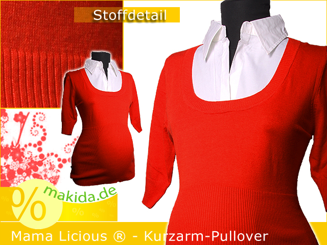 mama licious kurzarm pullover mit bluse hemd gr m ebay. Black Bedroom Furniture Sets. Home Design Ideas