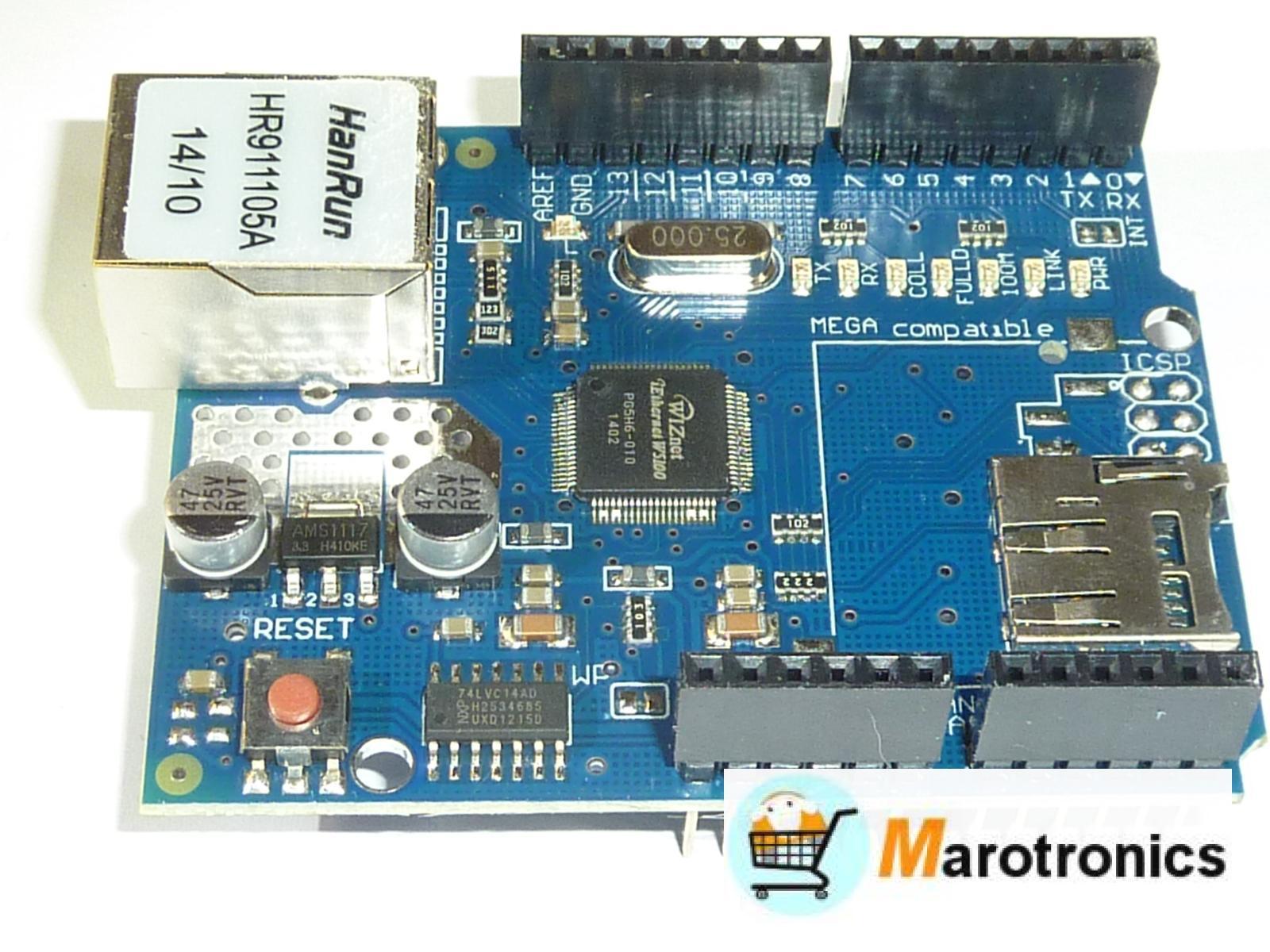 ethernet shield w5100 - für arduino mega 2560