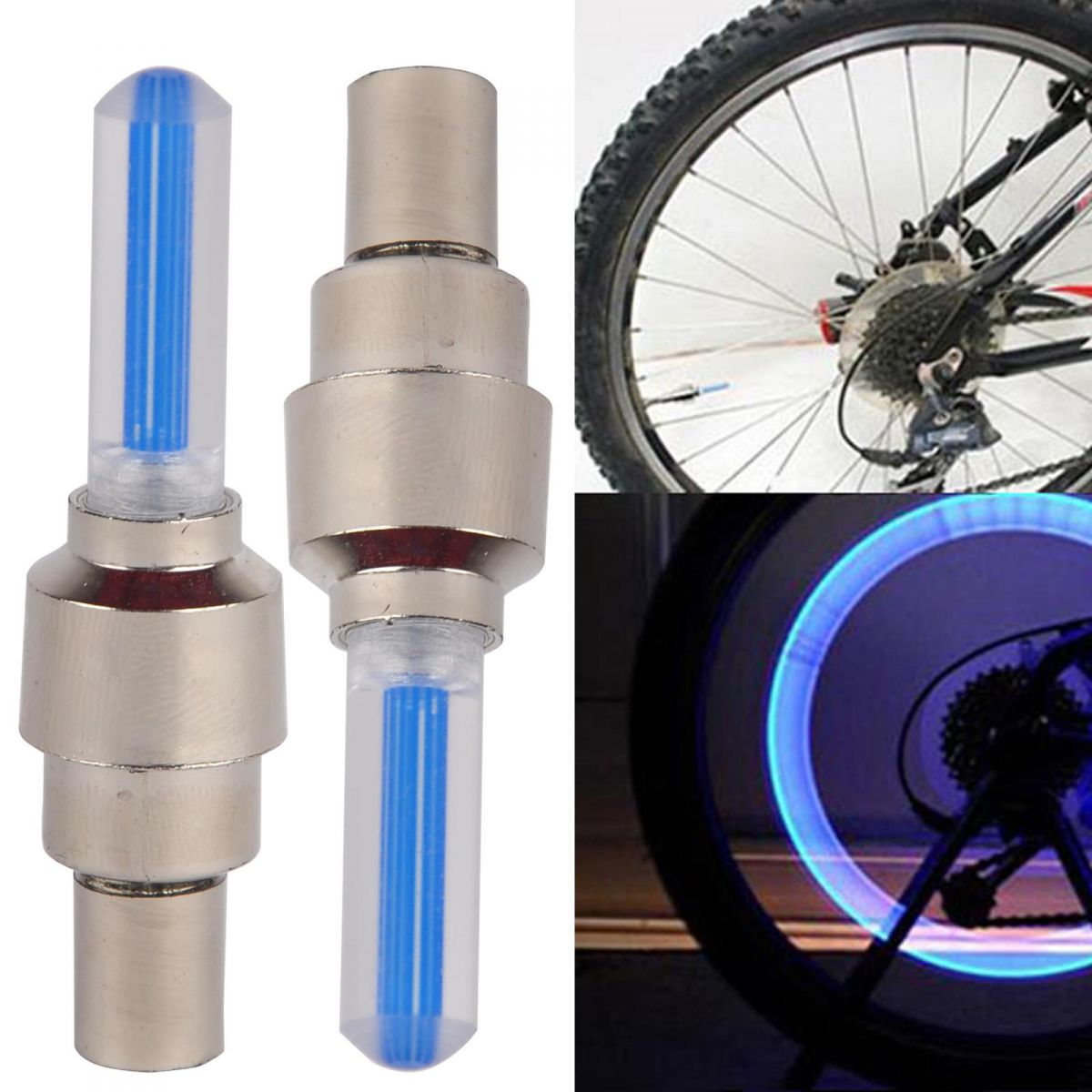 led ventilkappen fahrrad rad auto speichen licht felgen 4. Black Bedroom Furniture Sets. Home Design Ideas