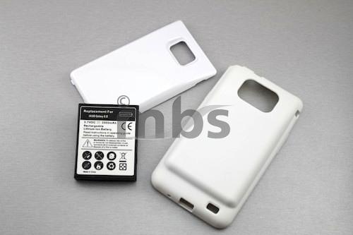 Samsung Galaxy S2 i9100 Power Akku 3500mAh 3.7V Batterie Deckel und Case Weiß