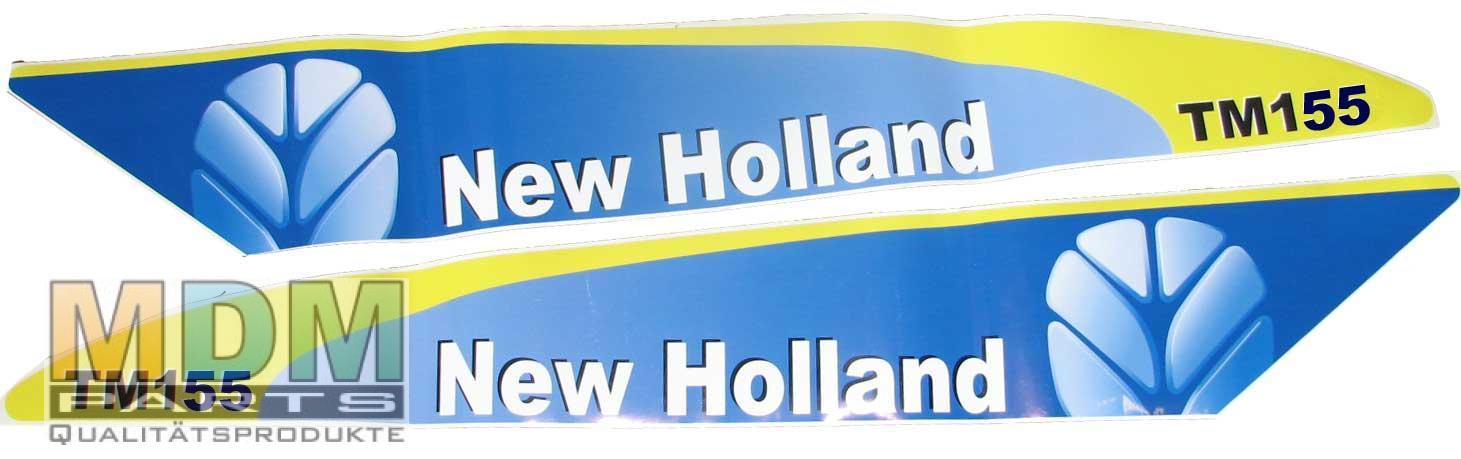 aufkleber decal f r new holland tm155 set sp tere typen ebay. Black Bedroom Furniture Sets. Home Design Ideas