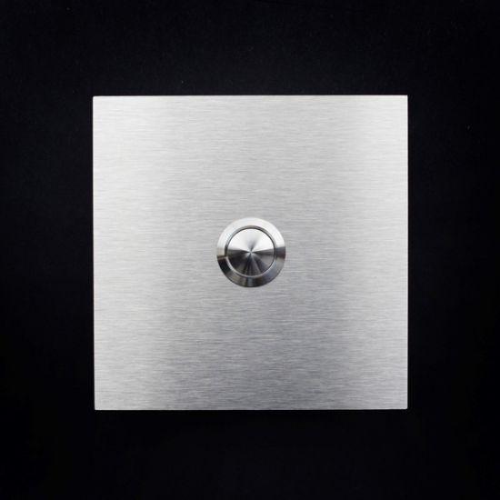 klingel aus edelstahl led t rklingel klingelplatte metall platte. Black Bedroom Furniture Sets. Home Design Ideas