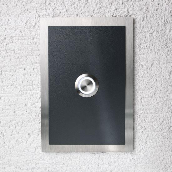 edelstahl t rklingel anthrazit ral7016 klingel haust rklingel led klingelplatte ebay. Black Bedroom Furniture Sets. Home Design Ideas
