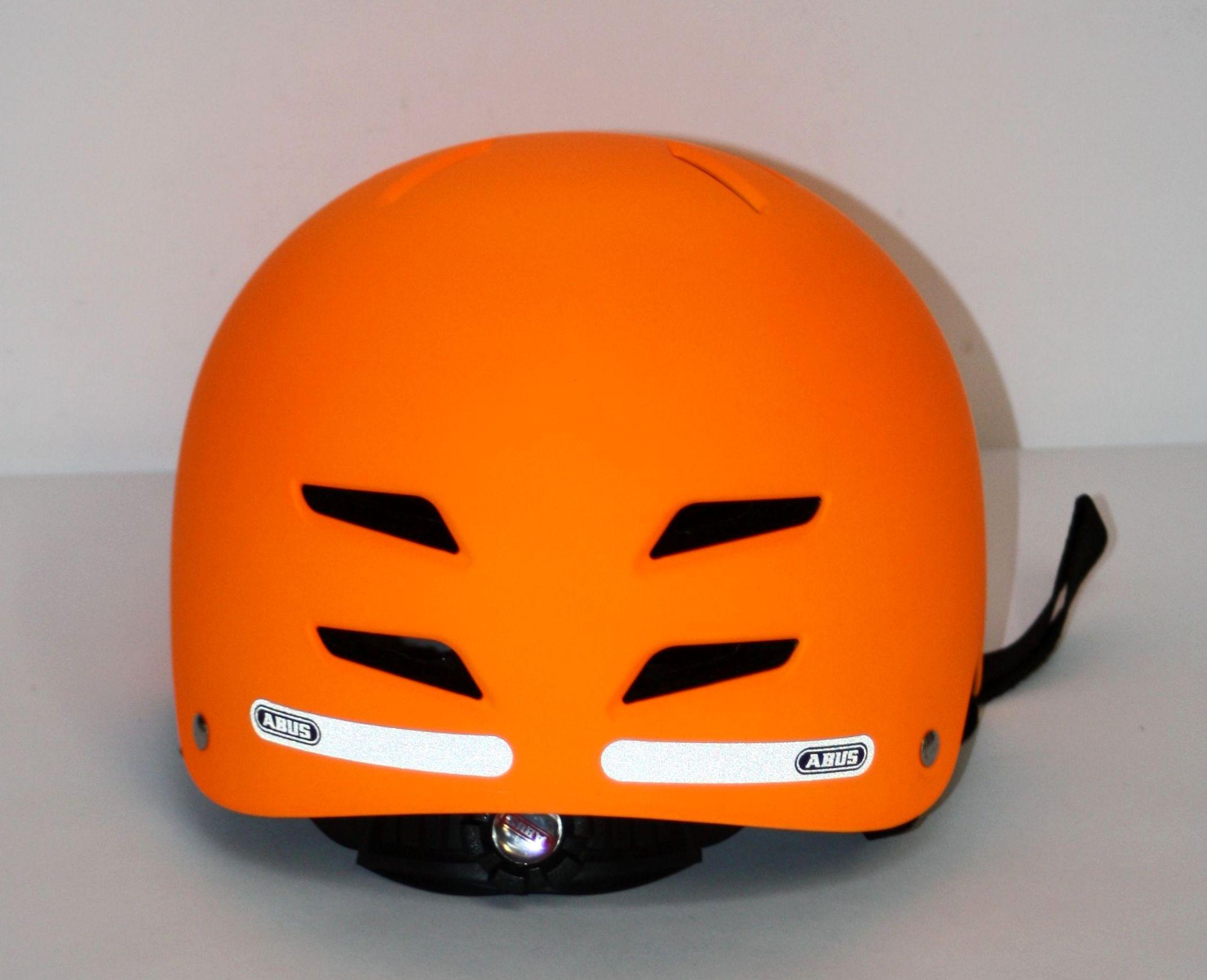 abus kinder fahrradhelm scraper signal orange 51 55 cm. Black Bedroom Furniture Sets. Home Design Ideas