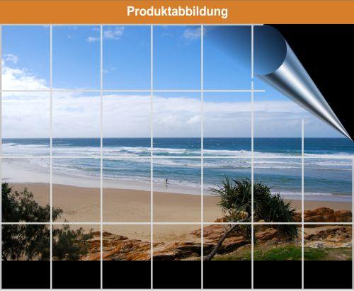 Fliesenposter strand kachel bad foto folie ebay for Wasserabweisende folie bad