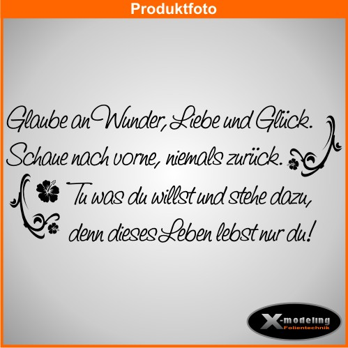 wandtattoo sprueche glaube wunder liebe 150cm x 62cm ebay. Black Bedroom Furniture Sets. Home Design Ideas