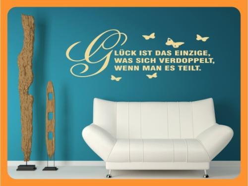 wandtattoo spr che gl ck ist das einzige was sich verdo ebay. Black Bedroom Furniture Sets. Home Design Ideas