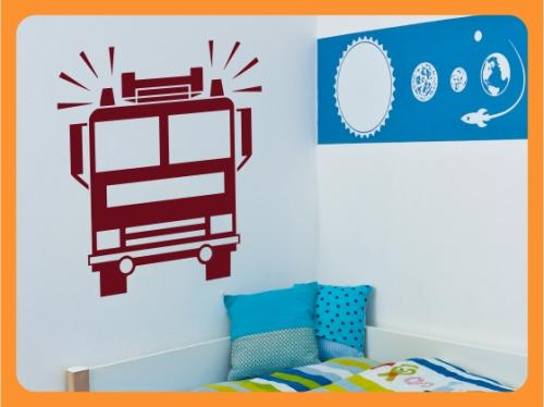 wandtattoo kinderzimmer junge auto feuerwehr bagger lkw. Black Bedroom Furniture Sets. Home Design Ideas