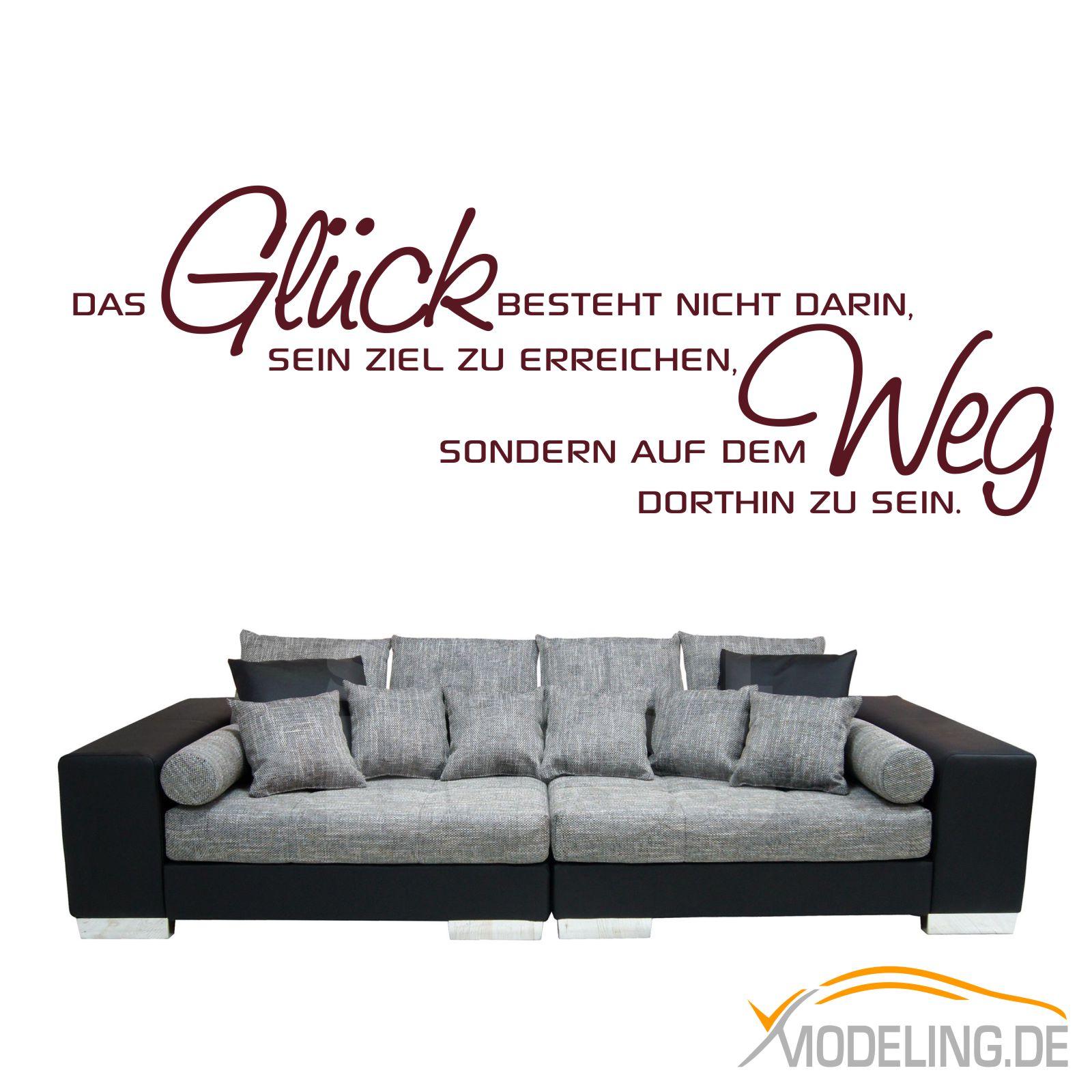 WANDTATTOO 1360 Glueck Weg Ziel Wohnzimmer Wandaufkleber Sprueche