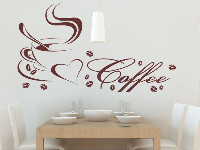 Wandtattoo M1351 Coffee Kaffee Kaffeetasse Cafe Küche
