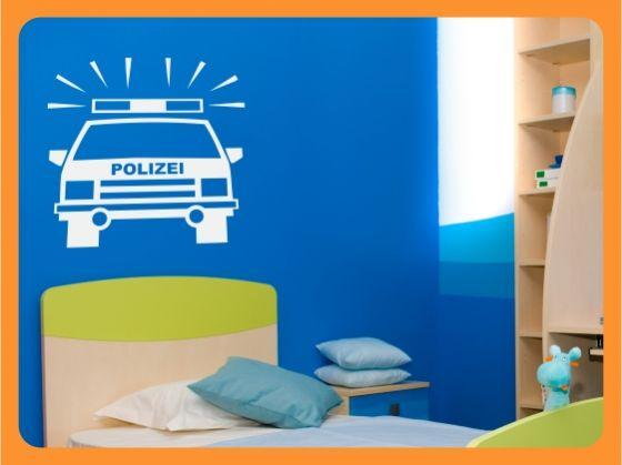 Wandtattoo wandaufkleber kinderzimmer auto polizei ebay - Wandtattoo kinderzimmer auto ...