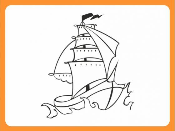 wandtattoo wandaufkleber kinderzimmer piraten schiff. Black Bedroom Furniture Sets. Home Design Ideas