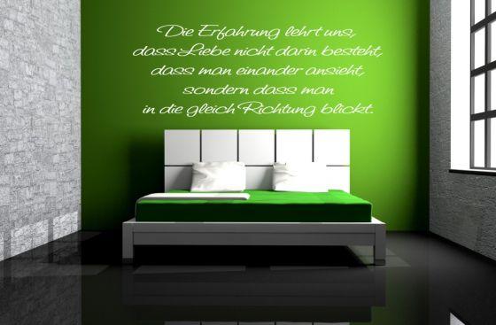 wandtattoo sprüche wohnzimmer die erfahrung lehrt uns, dass liebe, Wohnzimmer