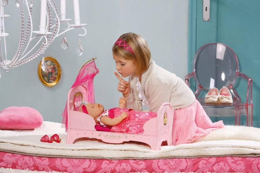 819562 zapf creation baby born prinzessinnen bett babybett. Black Bedroom Furniture Sets. Home Design Ideas