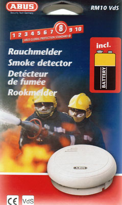 abus rauchmelder rm10 vds rauchwarnmelder feuermelder smoke detector rookmelder ebay. Black Bedroom Furniture Sets. Home Design Ideas