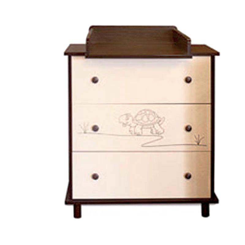 wickelkommode nussbaum animali vanille nuss mit. Black Bedroom Furniture Sets. Home Design Ideas
