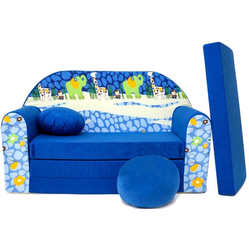 kindersofa blau c mit bettfunktion 3in1 sofa pikolino ausziehbett bett ebay. Black Bedroom Furniture Sets. Home Design Ideas