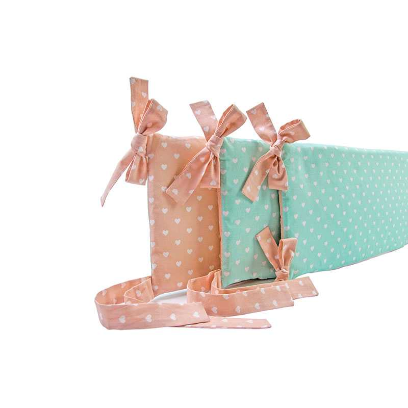 baby bettw sche bettbezug nestchen deko r sche 4 teilig delux rosa mintgr n kps4 ebay. Black Bedroom Furniture Sets. Home Design Ideas