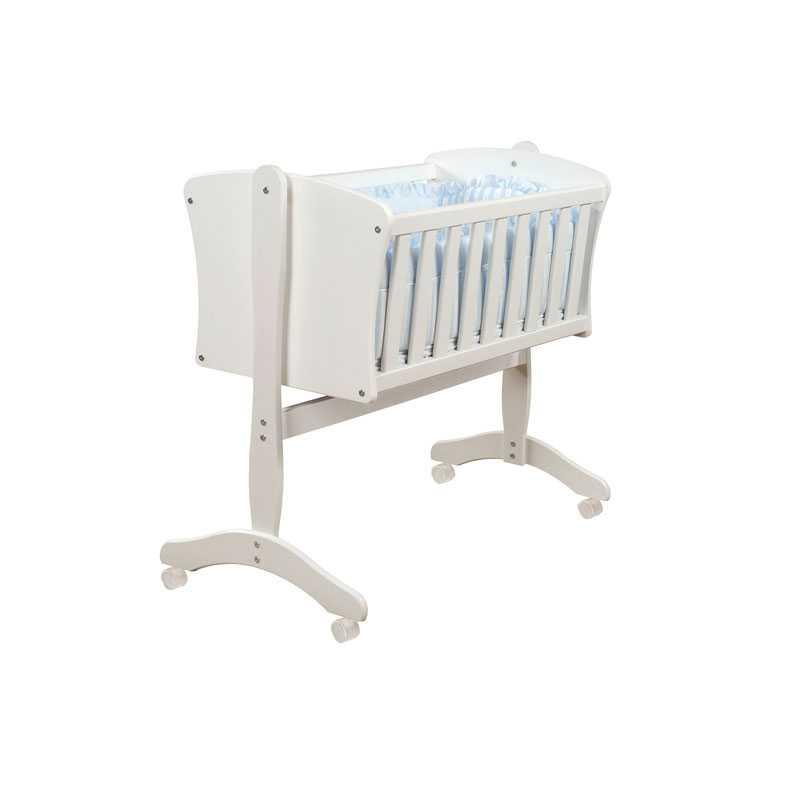 baby wiege babywiege bett mit r dern bettchen f r kinder. Black Bedroom Furniture Sets. Home Design Ideas