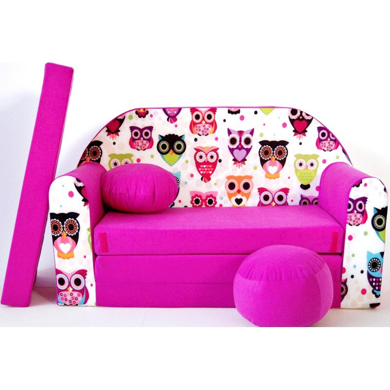 Kindersofa pink H mit Bettfunktion 3in1 Sofa Pikolino Ausziehbett Bett ...