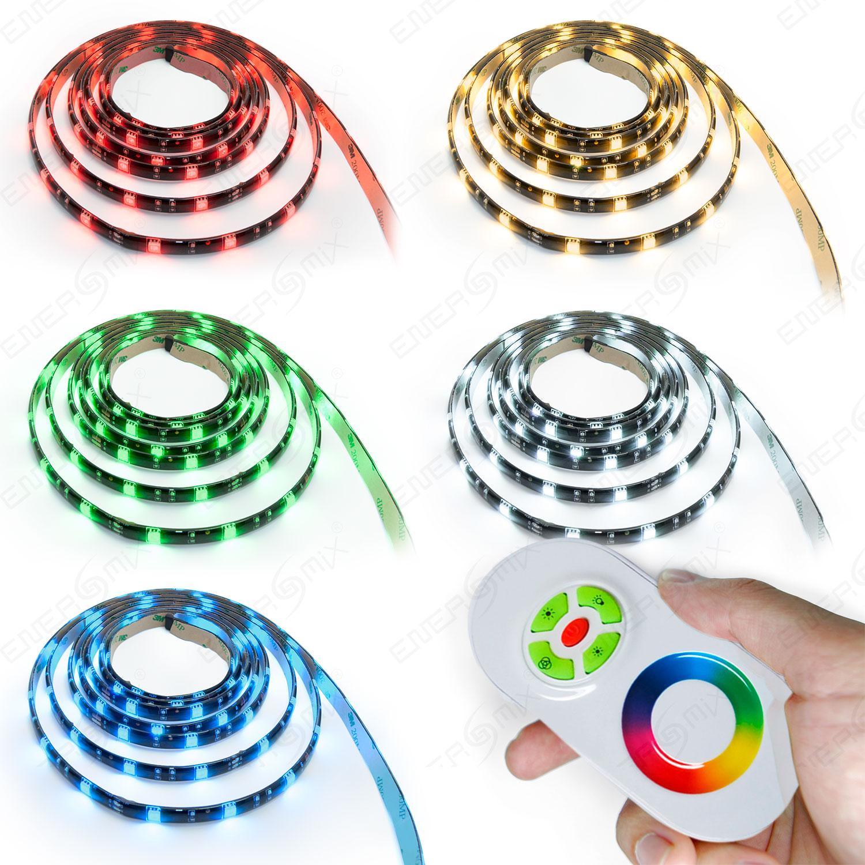 1-bis-15m-LED-RGB-Strip-Streifen-Set-30-LEDs-pro-Meter-mit-Touch-Fernbedienung