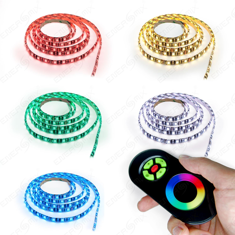 LED-RGB-Strip-mehrfarbig-mit-Touch-Fernbedienung-Komplett-Set-3m-7m-10m-15m