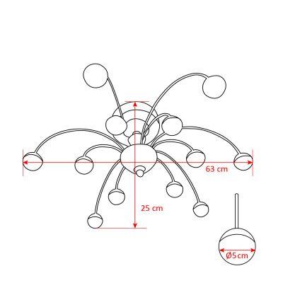 LED Deckenlampen Deckenleuchte für Wohnzimmer/ inkl. LED Lampen 12x3W