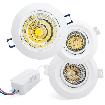 hochwertige led einbauleuchte einbaustrahler spot lampe cob 7w 10w inkl trafo ebay. Black Bedroom Furniture Sets. Home Design Ideas