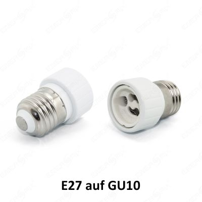 led lampen e27 auf gu10 g9 e14 auf gu10 g9 adapter konverter sockel fassung ebay. Black Bedroom Furniture Sets. Home Design Ideas