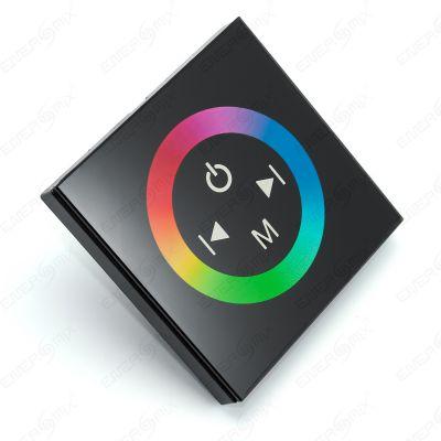 led controller einbau steuerger t dimmer f r mehrfarbige rgb led leiste strips ebay. Black Bedroom Furniture Sets. Home Design Ideas