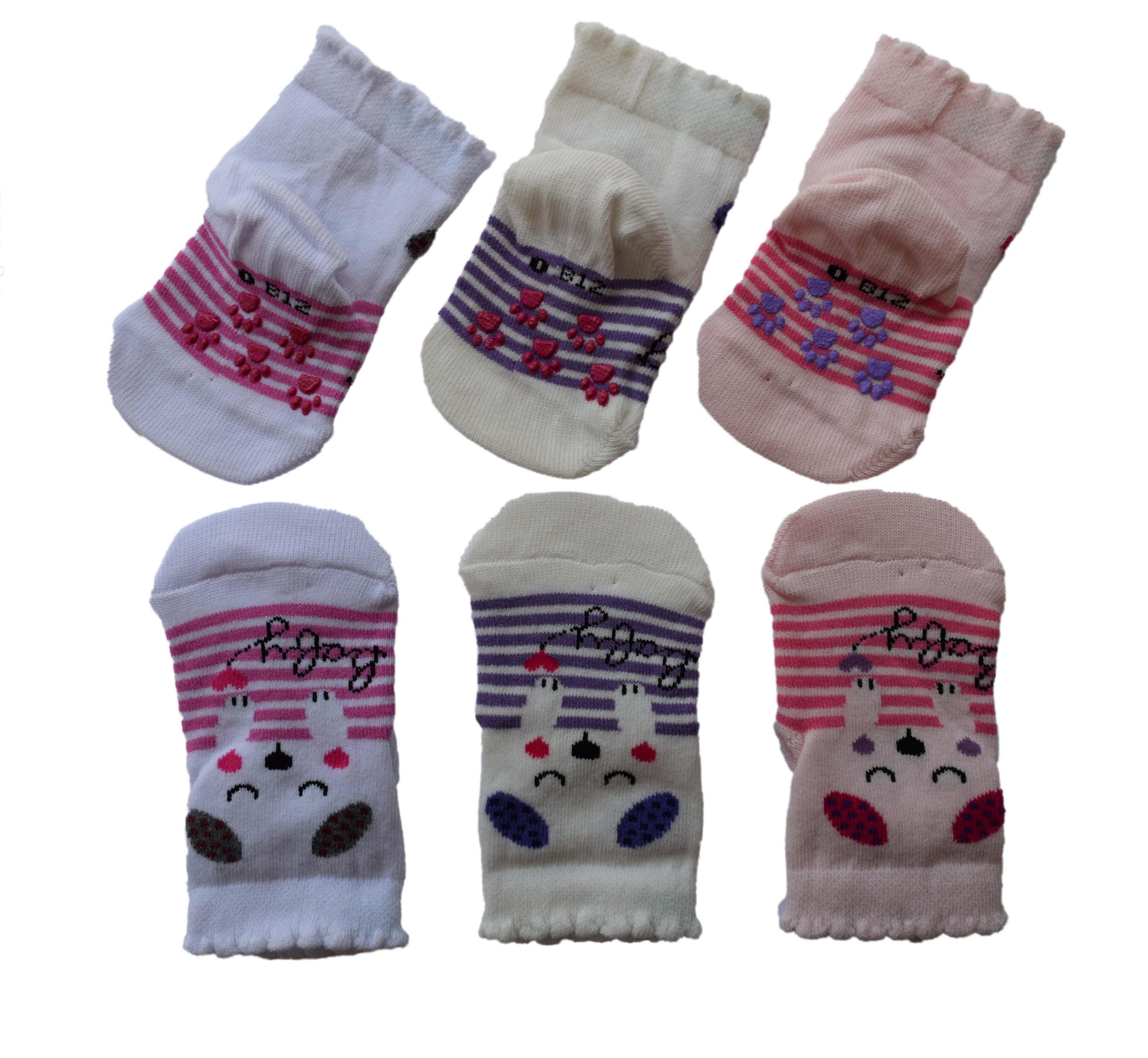 3 Paar Baby & Kinder Socken ABS  rutschfest  für Mädchen oder Jungen 2