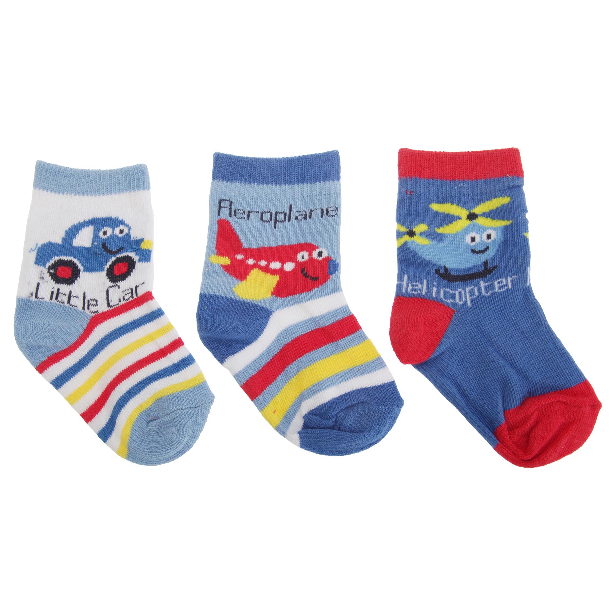 3 Paar Baby & Kinder Socken ABS  rutschfest  für Mädchen oder Jungen 3