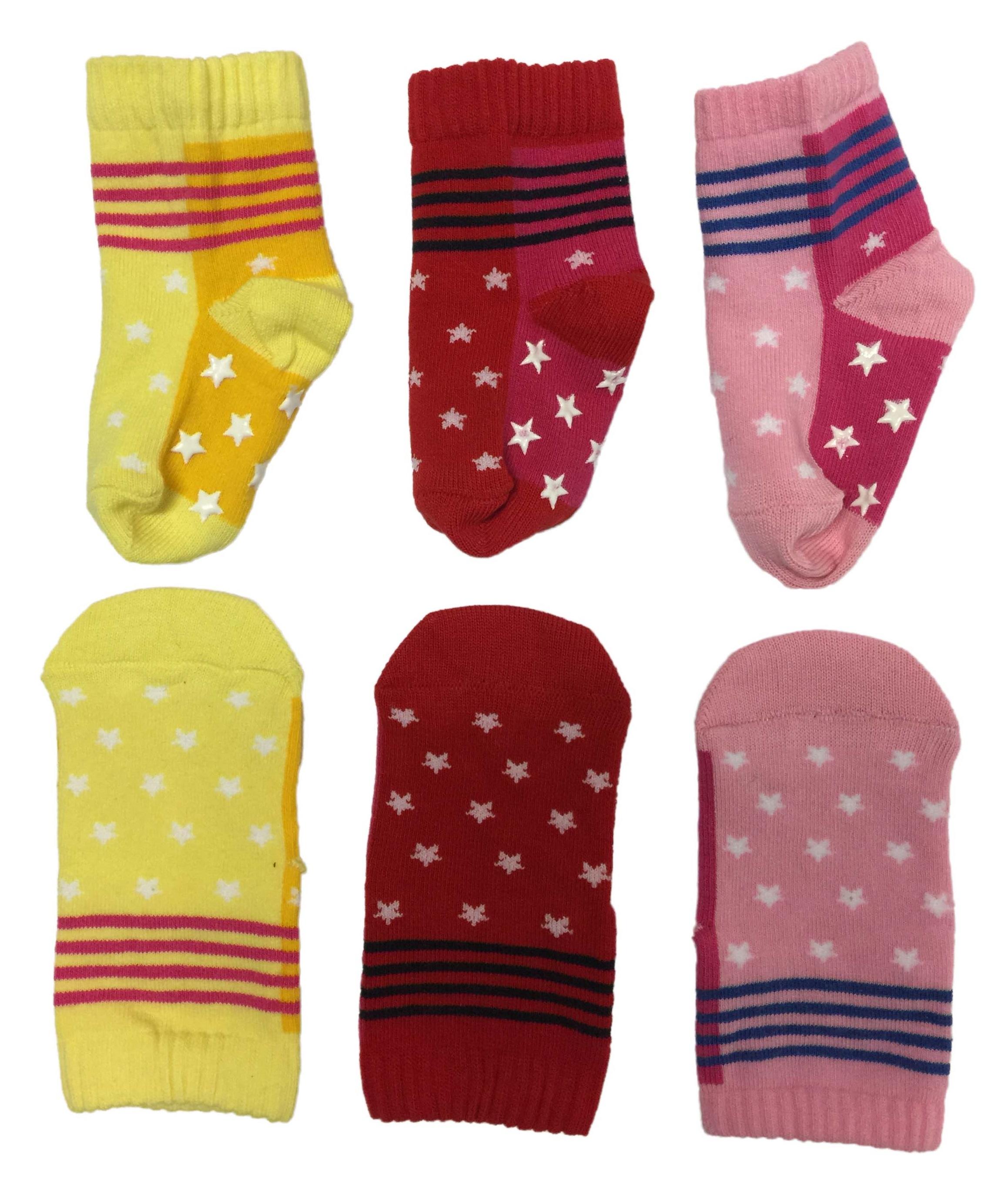 3 Paar Baby & Kinder Socken ABS  rutschfest  für Mädchen oder Jungen 7